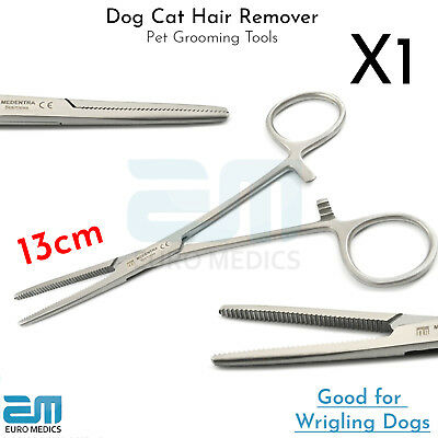 Dog Cat Ear Hair Remover for Wrigling Dogs Pet Grooming Trimmer Plucking Forceps
