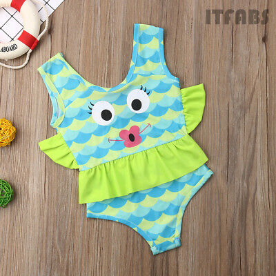 664896c7d9e87 Toddler Kid Baby Girl Unicorn Tankini BIkini Swimwear Swimsuit Bathing  Beachwear