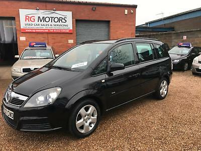 2007 Vauxhall/Opel Zafira 1.6i 16v Black 7 Seater MPV **ANY PX WELCOME**