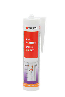Mastic acrylic d'sealing white without silicone 310ml WURTH