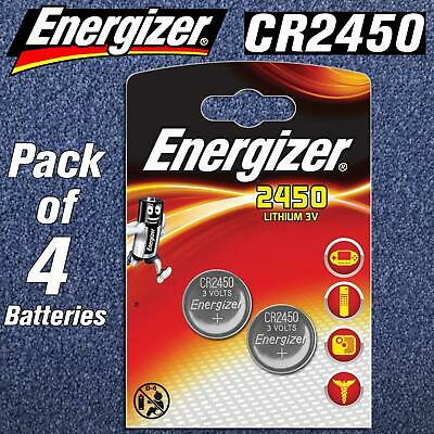 4 X Energizer CR2450 BR DL 2450 3V Lithium Coin Cell Button Battery LONGEST EXP