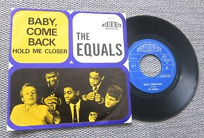 "The Equals *baby,come Back* / 7"" Belgium Ps Picture Sleeve"