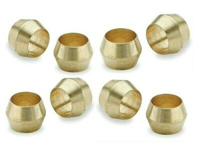 Brass Olives. 8mm. Compression. Pipe fitting. Pack of 5. *Top Quality!