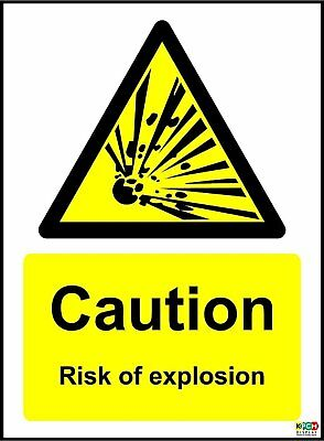 Caution Risk Of Explosion Safety Sign