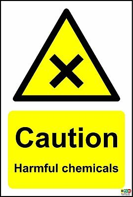 Caution Harmful Chemicals Safety signs
