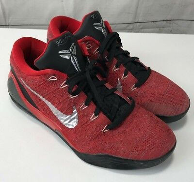 NIKE KOBE IX 9 ELITE LOW FLYKNIT ID Size 11 Red  677992-994 ... ac2944ac54