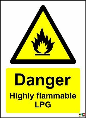 Danger Highly Flammable LPG Safety Sign