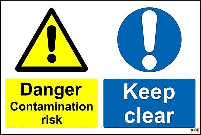 Danger Contamination Risk Keep Clear Safety Sign