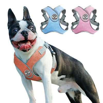 Step-in Reflective Mesh Padded Vest Dog Harness for French Bulldog Pitbull S M L