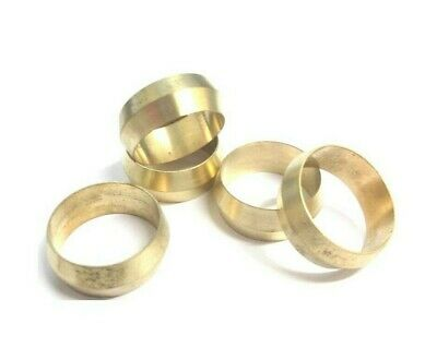 Brass Olives. 22mm. Compression. Pipe fitting. Pack of 5. *Top Quality!