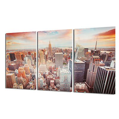 3Pcs Canvas Print New York City Manhattan Skyline Modern Picture Wall Home