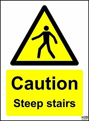Caution Steep Stairs Safety Sign