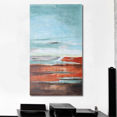 120x60cm Abstract Seaside Canvas Oil Painting Hand-painted Home Wall Art