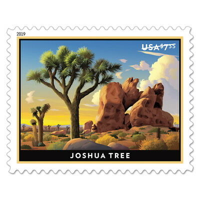 USPS New Joshua Tree Priority Mail Pane of 4