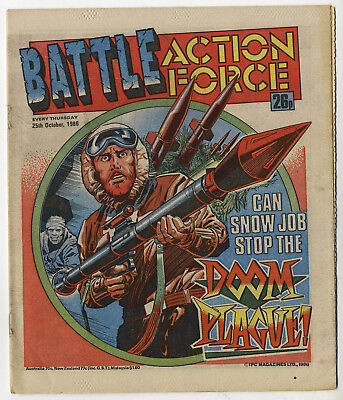 Battle Action Force 25th Oct 1986 (very high grade) Johnny Red, Charley's War