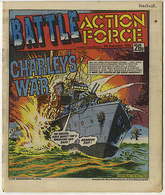 Battle Action Force 6th Sept 1986 (very high grade) Johnny Red, Charley's War