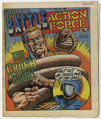 Battle Action Force 26th July 1986 (very high grade) Johnny Red, Charley's War