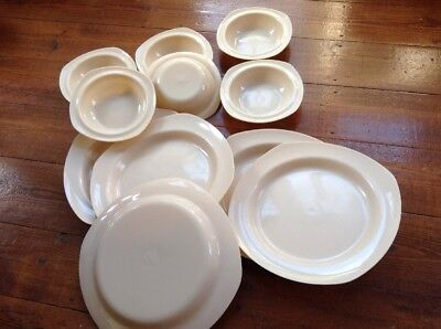 Vintage Twinco Melmex Plastic Bowls And Plates Bundle Vw Camper Camping Outdoor