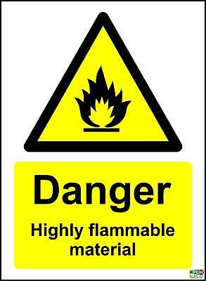 Danger Highly Flammable Material Safety Sign