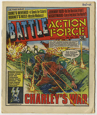 Battle Action Force 14th June 1986 (very high grade) Johnny Red, Charley's War