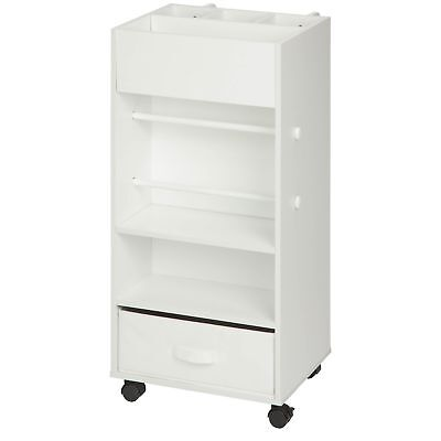 Honey-Can-Do CRT-06342 Rolling Craft Storage Cart with Fabric Drawer White