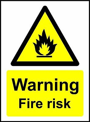 Warning Fire Risk Safety Sign