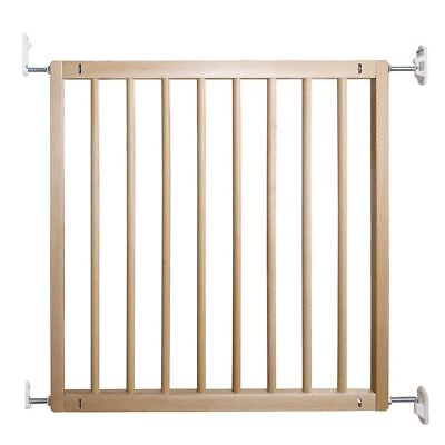 New BabyDan No Trip Bar Beechwood Safety Stairs Baby Gate  72 - 78.5cm