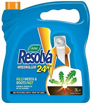 Westland Resolva 24H Ready to Use Strong Herbicide Glyphosate WeedKiller 3L