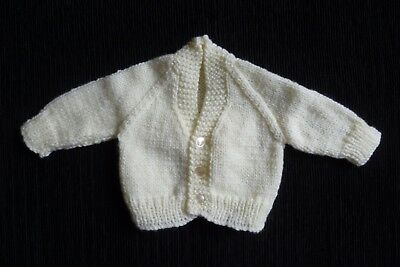 Baby clothes UNISEX BOY GIRL newborn 0-1m pale yellow, soft cardigan SEE SHOP!