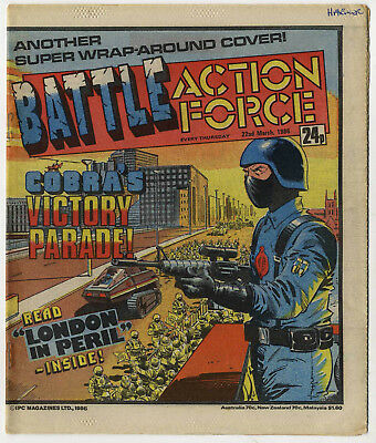 Battle Action Force 22nd March 1986 (very high grade) Johnny Red, Charley's War