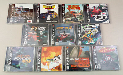 PlayStation Racing Games Bundle All Complete CIB Tested Working