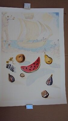 Litografia DALI -ship and fruits