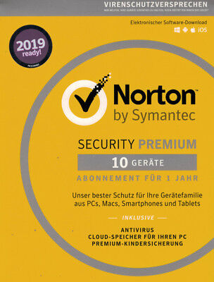 NORTON Internet SECURITY Premium 2019 10 Geräte Download - Internet Security Key