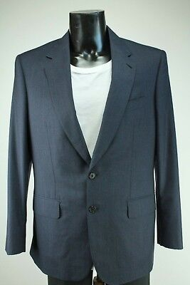 Gieves&Hawkes Wool/Silk blend Anthrazite/Blue Nail Shed Blazer, Size:UK32/EU42.