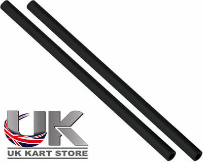 Track / Tie Rod 265mm x M8 Round Black x 2 Go Kart Karting Race Racing