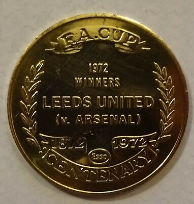Leeds United Utd Esso Fa Cup 1872-1972 Centenary Coin Free Postage
