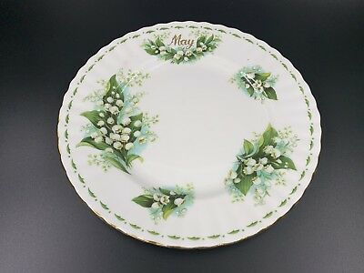 """Royal Albert Flower of the Month Series May Lily of the Valley 8"""" Salad Plate"""