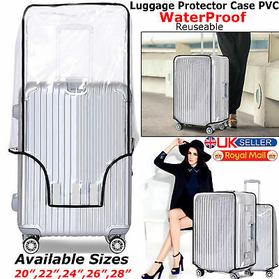 PVC Transparent Travel Luggage Cover Suitcase Protector 20'' 22'' 24''26'' 28''