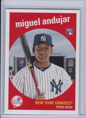 2018 Topps Throwback Thursday TBT Set 27 #161 Miguel Andujar New York Yankees RC