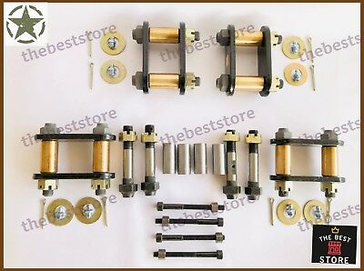Willys Jeep Leaf Spring Shackle Kit(Heavyduty)(Brass)(Greasable)Complete Assbly