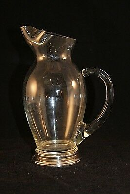Whiting & Co Sterling Silver Base Glass Pitcher Floating Handle