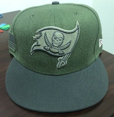 best service 2ef07 77f4b NWOT New Era NFL Tampa Bay Buccaneers Salute To Service Hat Size 7 1 2