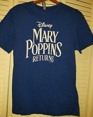 Mary Poppins Returns (2018) T-Shirt Movie Studio Promotional Concert T Size M