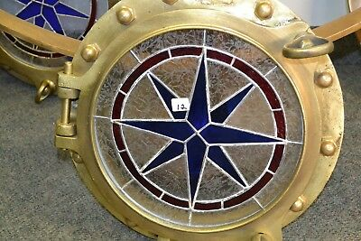 Vintage Ship Porthole from IMPERIAL WINDSOR  With Stain Gass