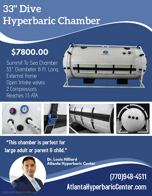 """33"""" Decompression Oxygen Exclusive Incredibly Bright Interior Hyperbaric Chamber"""