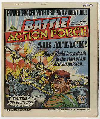 Battle Action Force 25th Jan 1986 (very high grade) Johnny Red, Charley's War