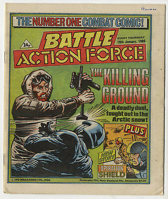 Battle Action Force 18th Jan 1986 (very high grade) Johnny Red, Charley's War