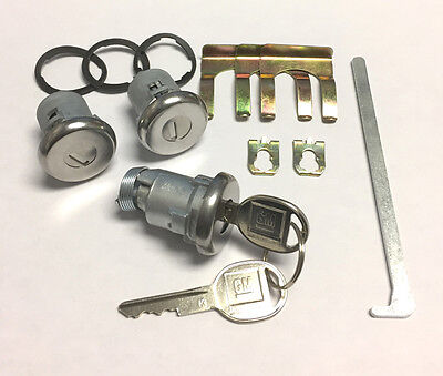 Buick Apollo Centurion Wildcat 68-75 Trunk Key Boot Lock Cylinder Tumbler 2 Keys