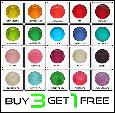 10,15,30ml Transparent Translucent Epoxy Resin Pigments Dyes 60 Colours B2G1FREE