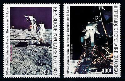 [64278] Congo Brazzaville 1989 Space Travel Weltraum  From Set MNH